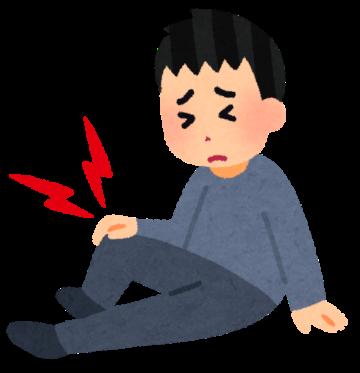 膝痛の男性